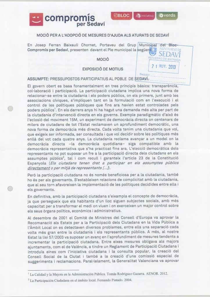MOCIÓ PRESUPOSTOS PARTICIPATIUS